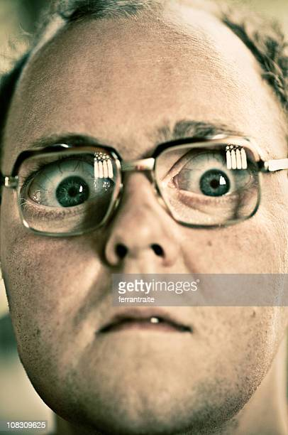 shocked man - big eyes stock photos and pictures