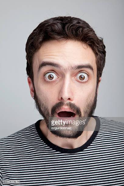 shocked - scary face stock photos and pictures
