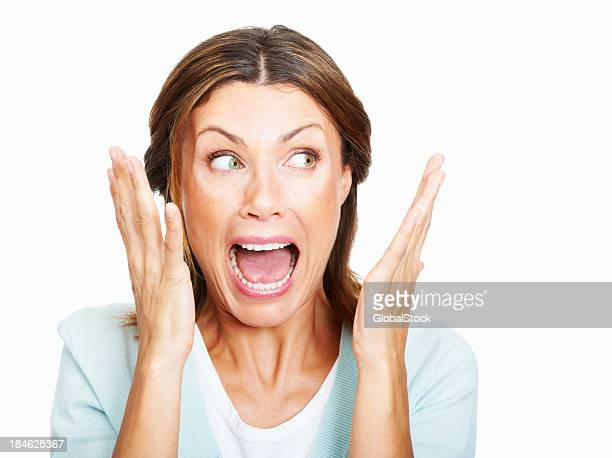 shocked! - shouting stock photos and pictures