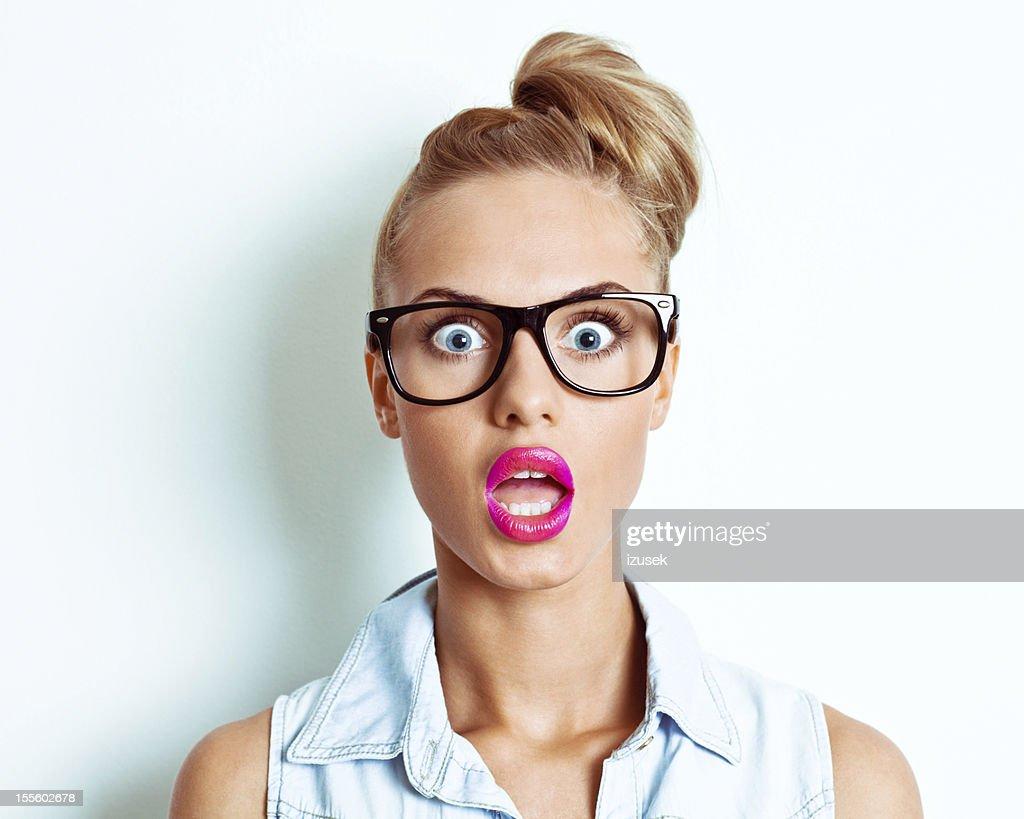 Schockiert Frau : Stock-Foto