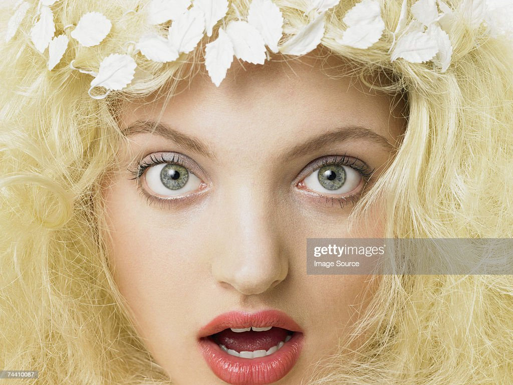 Shocked woman : Stock Photo