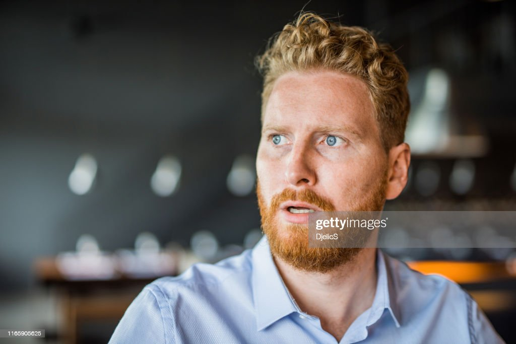 Shocked young man portrait. : Stock Photo