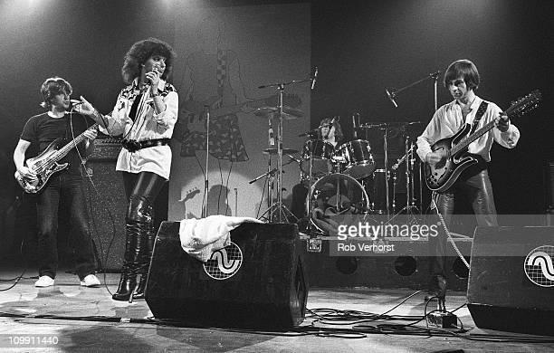 Shocking Blue perform on stage at Haagsche Beat Nach Houtrusthallen Den Haag Netherlands 13th June 1980 LR Klaasje van der Wal Mariska Veres Cor van...