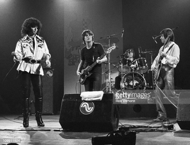 Shocking Blue perform on stage at Haagsche Beat Nach Houtrusthallen Den Haag Netherlands 13th June 1980 LR Mariska Veres Klaasje van der Wal Cor van...