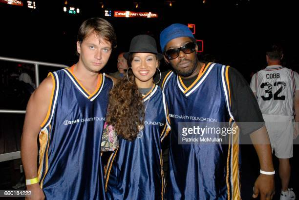 Shockwave Butterscotch and Kid Lucky attend Seventh Annual Istar Charity Shootout at Madison Square Garden on July 20 2009 in New York City