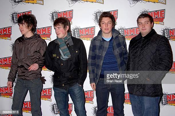 Shockwaves Nme Awards London Britain 23 Feb 2006 Arctic Monkeys Alex Turner Jamie Cook Matt Helders And Andy Nicholson