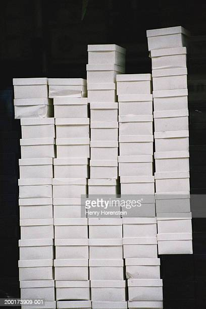 Shoe boxes, stacked