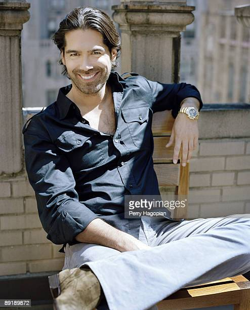 Shoe designer Brian Atwood poses at a portrait session for InStyle Magazine in New York City