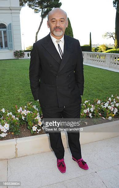 Shoe designer Christian Louboutin attends amfAR's 20th Annual Cinema Against AIDS during The 66th Annual Cannes Film Festival at Hotel du CapEdenRoc...