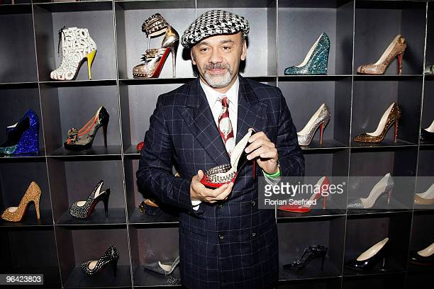 Shoe Designer Christian Louboutin attends the 'Christian Louboutin' cocktail reception at The Corner Shop on February 4 2010 in Berlin Germany