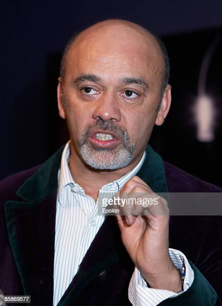 Shoe designer Christian Louboutin attends the opening of the exhibition 'Fetish' at the Garage gallery on April 8 2009 in Moscow Russia