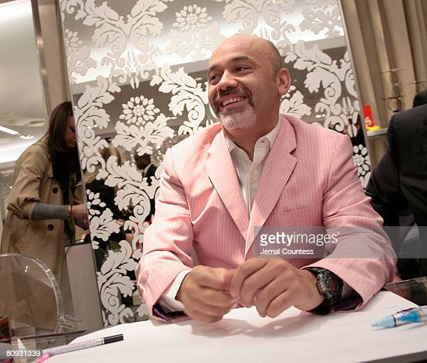 Shoe Designer Christian Louboutin makes his first ever personal appearence at New York's Saks Fifth Ave on February 7 2008 in New York City
