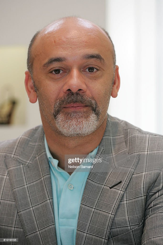 Shoe designer Christian Louboutin poses for a photograph at the launch of his new fall collection at Barneys New York on May 7, 2008 in Beverly Hills, California. (Photo by Neilson Barnard/Getty Images)Christian Louboutin