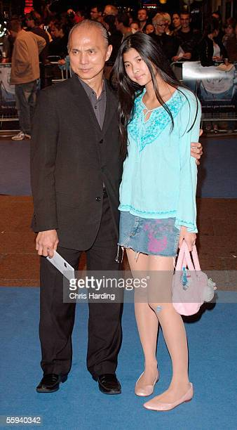 Shoe designer Jimmy Choo and his daughter arrive at the UK Premiere of 'The Corpse Bride' at the Vue Cinema Leicester Square on October 17 2005 in...