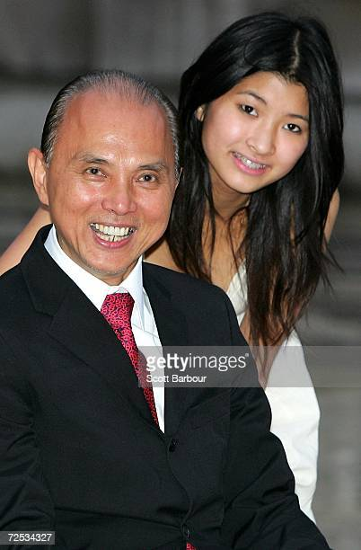 Shoe designer Jimmy Choo and his daughter Emily Choo pose after Choo received the Freedom of the City of London award November 14 2006 in London...