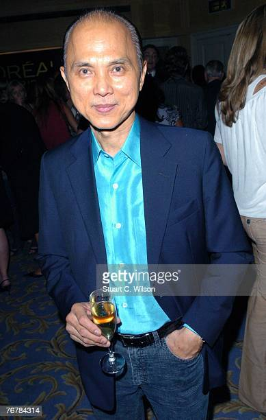 Shoe Designer Jimmy Choo attends the Julien Macdonald show as part of London Fashion Week at the Hilton Park Lane September 16, 2007 in London,...