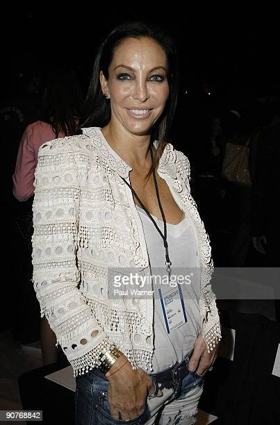 Shoe designer Lisa Pliner who designed the shoes for the Gottex show attends Gottex Spring 2010 during MercedesBenz Fashion Week at Bryant Park on...