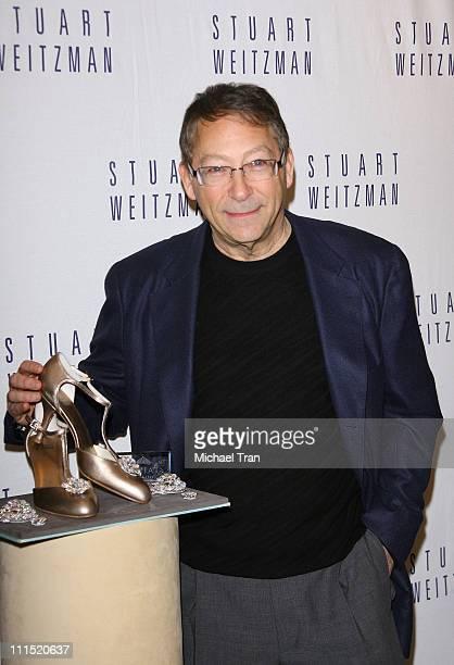 Shoe designer Stuart Weitzman speaks to members of the press at the Stuart Weitzman and Greg Kwiat press conference announcing Best Original...