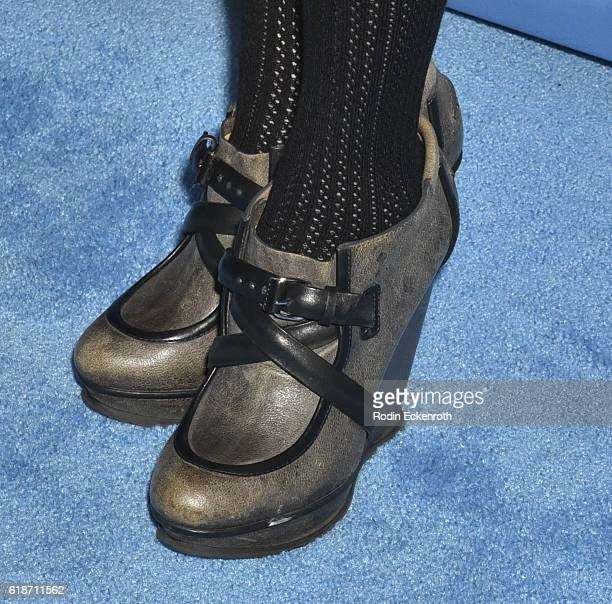 Shoe detail actress Alison Haislip attends 4th Annual UNICEF Masquerade Ball at Clifton's Cafeteria on October 27 2016 in Los Angeles California