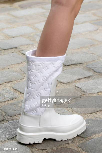 Shoe detail at Louis Vuitton show during Paris Men's Fashion Week Spring/Summer 2020 on June 20 2019 in Paris France