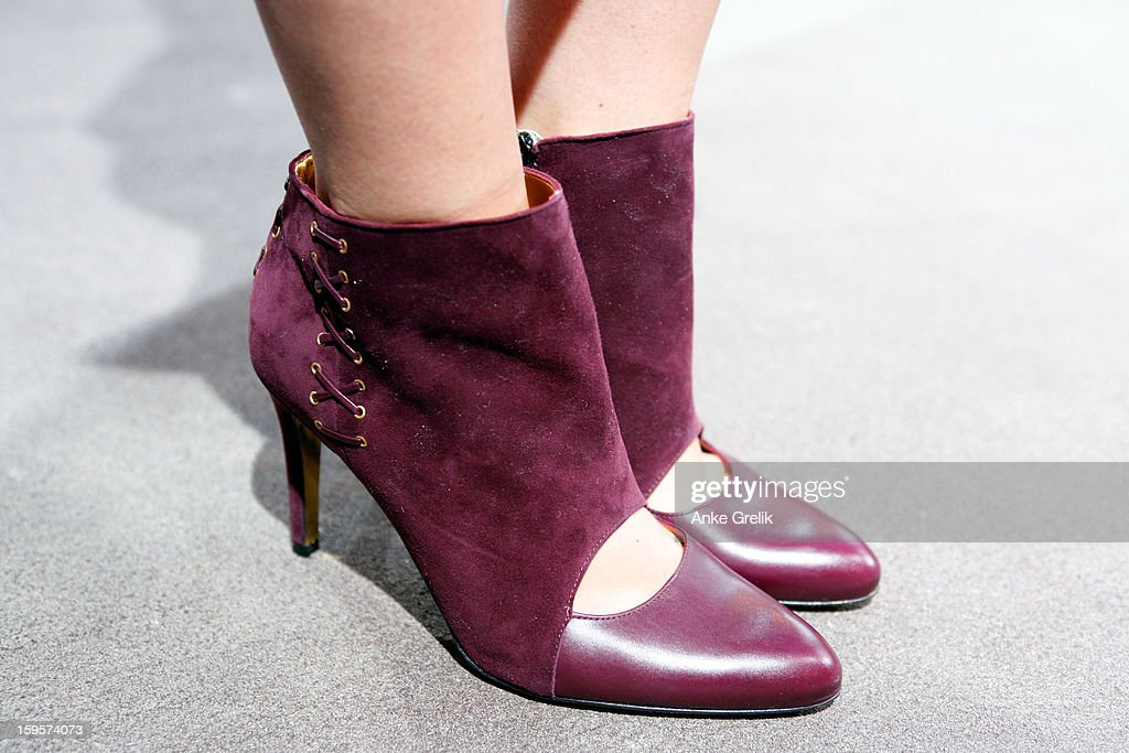 Shoe detail at Mercedes-Benz Fashion Week Autumn/Winter 2013/14 on January 16, 2013 in Berlin, Germany.