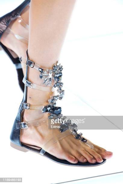 Shoe detail at the Azzaro Couture show during Paris Haute Couture Fall/Winter 2019/2020 on July 1 2019 in Paris France