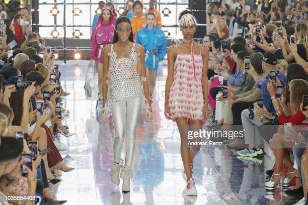 Shoe detail at the Byblos show during Milan Fashion Week Spring/Summer 2019 on September 19 2018 in Milan Italy