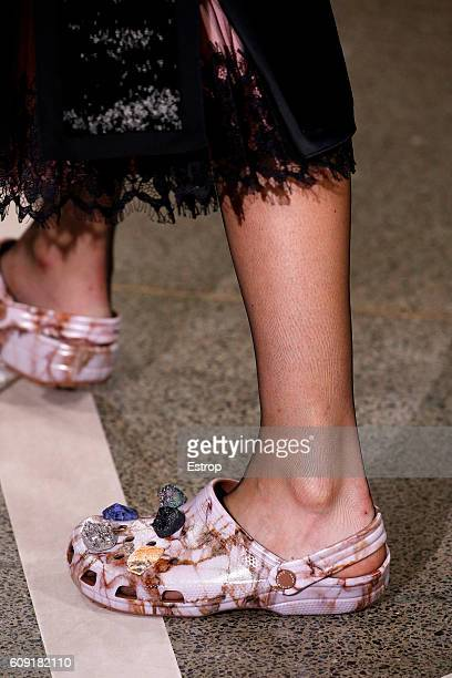 Shoe detail at the Christopher Kane show during London Fashion Week Spring/Summer collections 2017 on September 19 2016 in London United Kingdom
