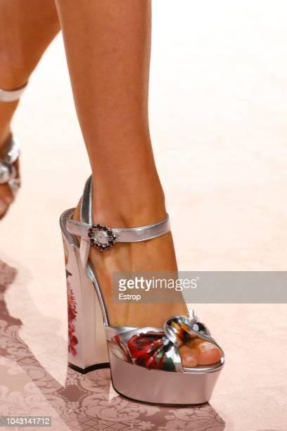 Shoe detail at the Dolce Gabbana show during Milan Fashion Week Spring/Summer 2019 on September 23 2018 in Milan Italy