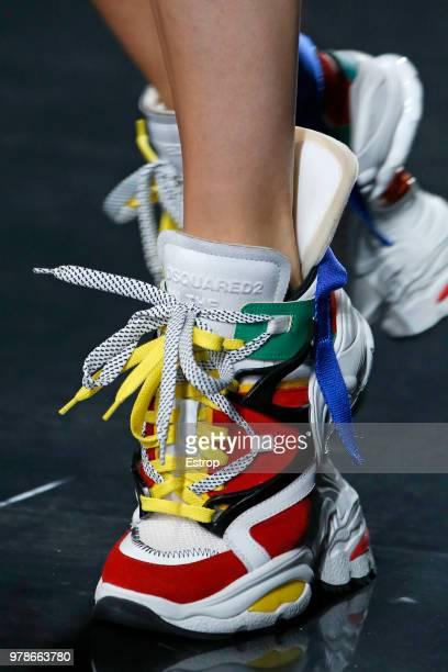 Shoe detail at the Dsquared2 show during Milan Men's Fashion Week Spring/Summer 2019 on June 17 2018 in Milan Italy