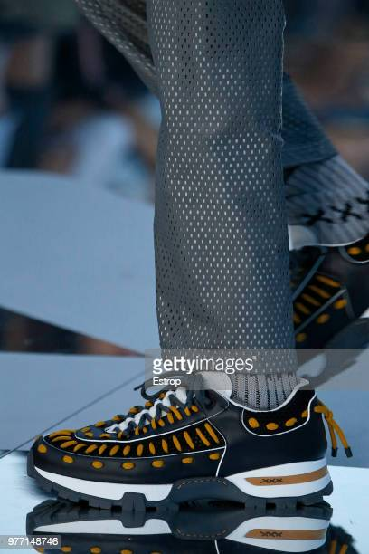 Shoe detail at the Ermenegildo Zegna show during Milan Men's Fashion Week Spring/Summer 2019 on June 15 2018 in Milan Italy