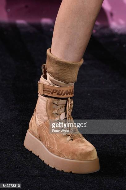 Shoe detail at the Fenty Puma By Rihanna fashion show during New York fashion week at Park Avenue Armory on September 10 2017 in New York City