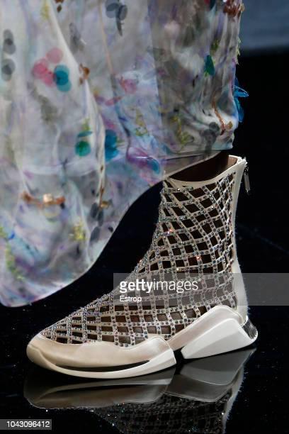 Shoe detail at the Giorgio Armani show during Milan Fashion Week Spring/Summer 2019 on September 23 2018 in Milan Italy