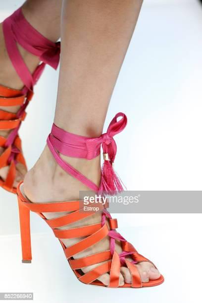 Shoe Detail at the Giorgio Armani show during Milan Fashion Week Spring/Summer 2018 on September 22 2017 in Milan Italy