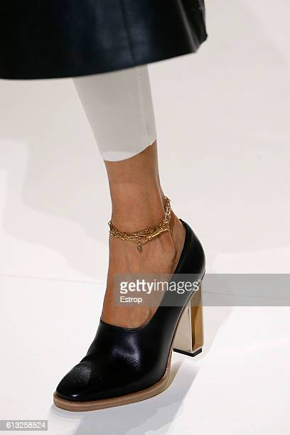 Shoe detail at the Hermes show as part of the Paris Fashion Week Womenswear Spring/Summer 2017 on October 3 2016 in Paris France