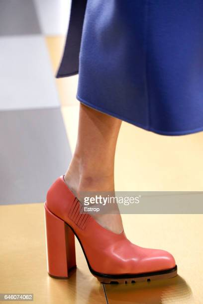 Shoe detail at the Jil Sander show during Milan Fashion Week Fall/Winter 2017/18 on February 25 2017 in Milan Italy