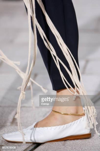 Shoe Detail at the Jil Sander show during Milan Fashion Week Spring/Summer 2018 on September 23, 2017 in Milan, Italy.