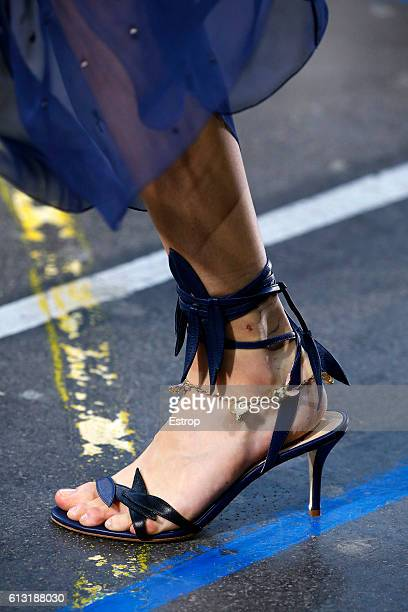 Shoe detail at the John Galliano show as part of the Paris Fashion Week Womenswear Spring/Summer 2017 on October 2 2016 in Paris France