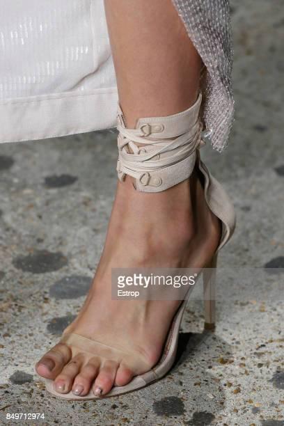 Shoe Detail at the Julien Macdonald show during London Fashion Week September 2017 on September 18, 2017 in London, England.