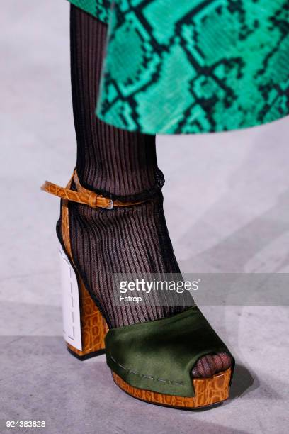 Shoe detail at the Marni show during Milan Fashion Week Fall/Winter 2018/19 on February 25 2018 in Milan Italy