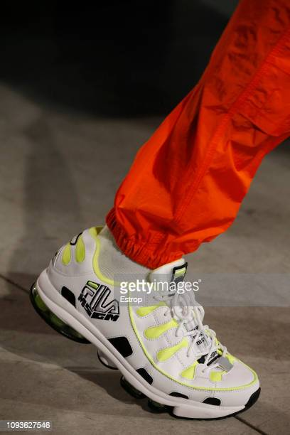 Shoe detail at the MSGM show during Milan Menswear Fashion Week Autumn/Winter 2019/20 on January 13 2019 in Milan Italy