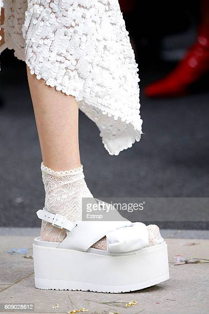 Shoe detail at the Preen by Thornton Bregazzi show during London Fashion Week Spring/Summer collections 2017 on September 18 2016 in London United...