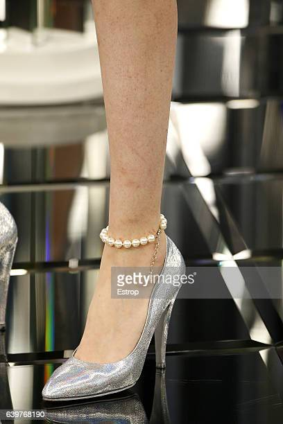 Shoe detail at the runway during the Chanel designed by Karl Lagerfeld Spring Summer 2017 show as part of Paris Fashion Week on January 24 2017 in...