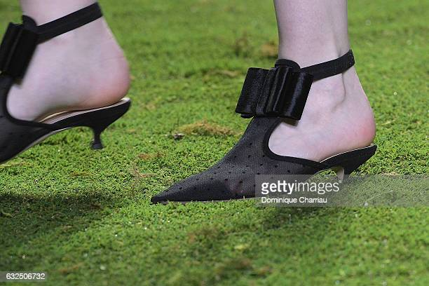 A shoe detail at the runway during the Christian Dior Haute Couture Spring Summer 2017 show as part of Paris Fashion Week on January 23 2017 in Paris...