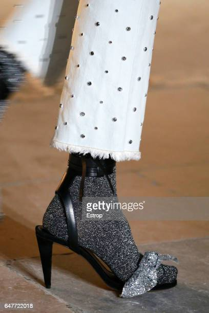 Shoe detail at the runway during the Isabel Marant show as part of the Paris Fashion Week Womenswear Fall/Winter 2017/2018 on March 2 2017 in Paris...
