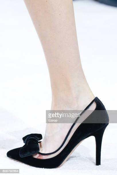 Shoe Detail at the Valentino show as part of the Paris Fashion Week Womenswear Spring/Summer 2018 on October 1 2017 in Paris France