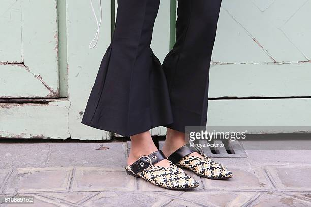 Shoe detail during Paris Fashion Week Spring/Summer 2017 on September 27 2016 in Paris France