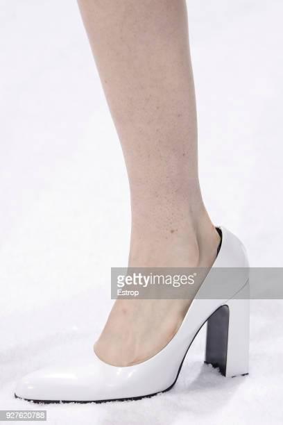 Shoe detail during the Balenciaga show as part of the Paris Fashion Week Womenswear Fall/Winter 2018/2019 on March 3 2018 in Paris France