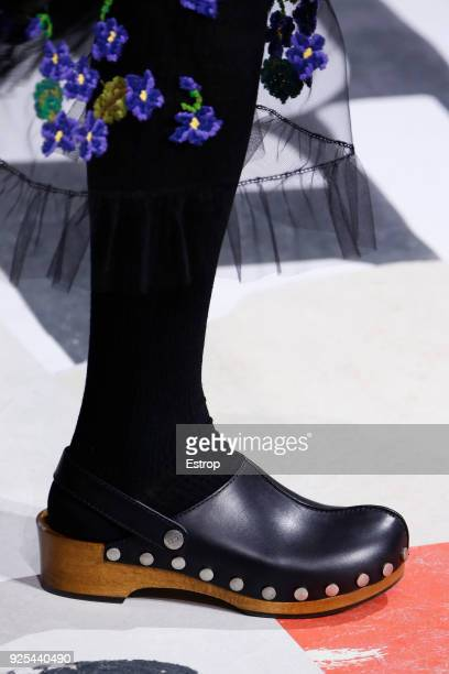 Shoe detail during the Christian Dior show as part of the Paris Fashion Week Womenswear Fall/Winter 2018/2019 on February 27 2018 in Paris France