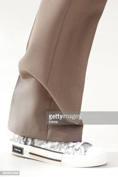 Shoe detail during the Dior Homme Menswear Spring/Summer 2019 show as part of Paris Fashion Week on June 23 2018 in Paris France